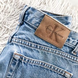 VINTAGE 90's Calvin Klein jean shorts high rise 7